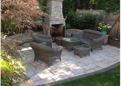 Outdoor Fireplace and Paver Patio