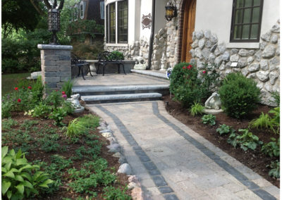 Paver Patio and Stairs